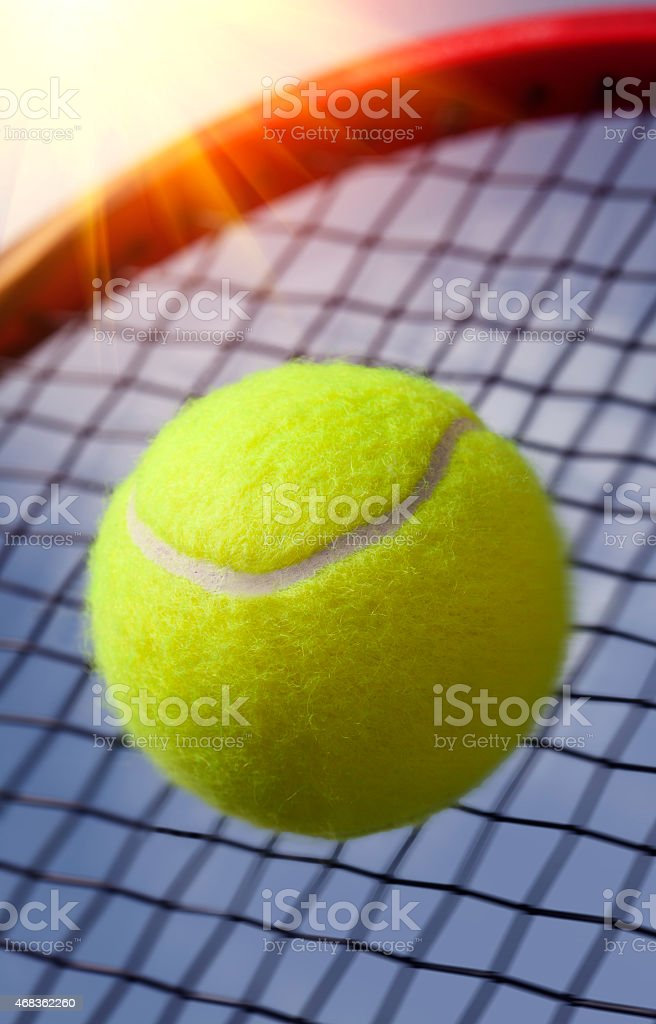.Ball and Racket royalty-free stock photo
