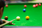 istock Ball and Snooker Player 497812846