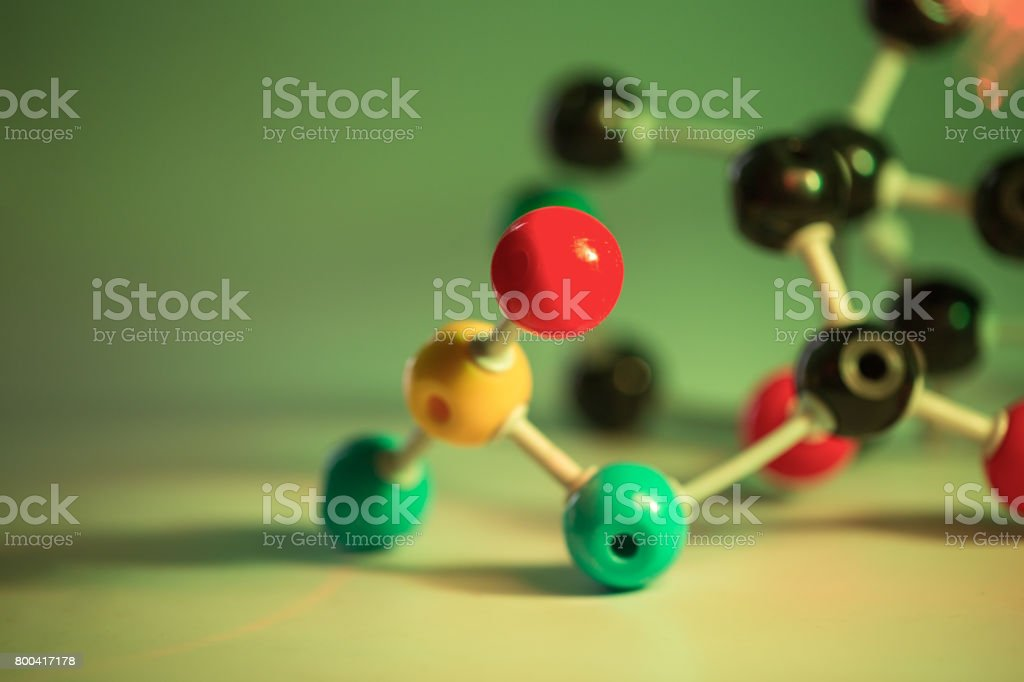 ball and stick molecular structure stock photo