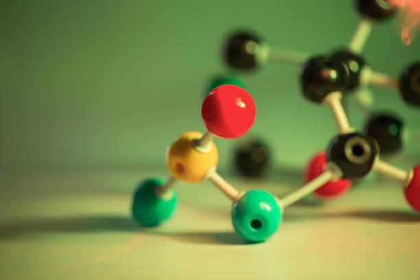 ball and stick molecular structure - enzym zdjęcia i obrazy z banku zdjęć