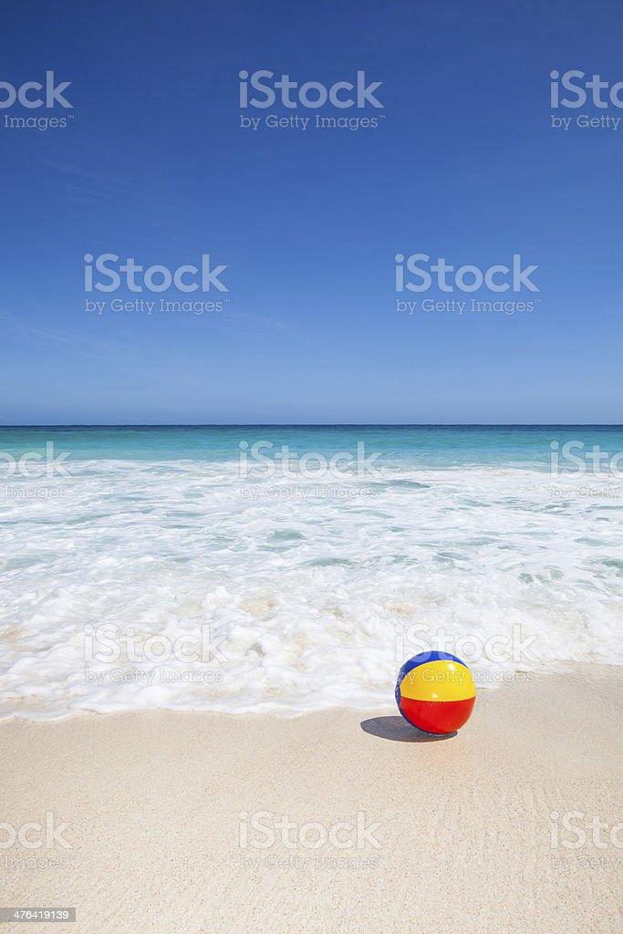 ball at the beach stock photo