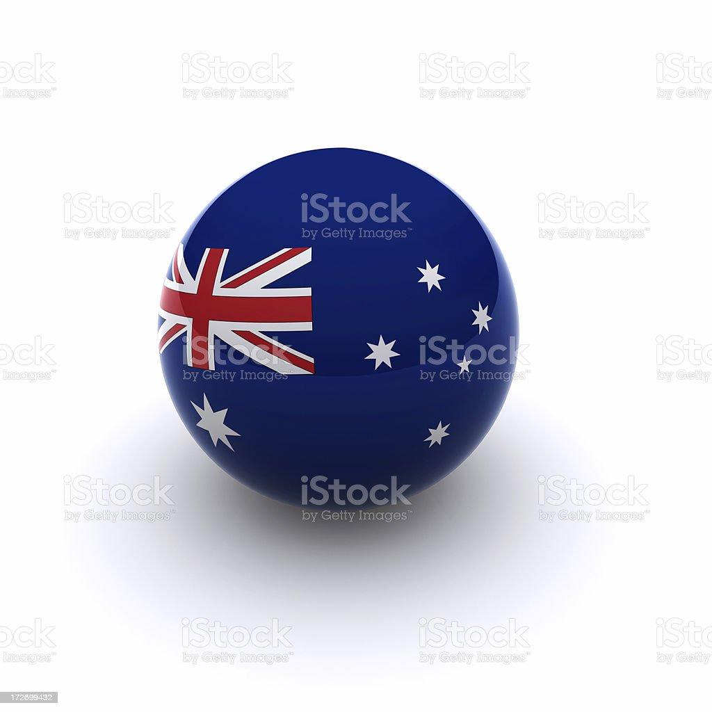 3D Ball - Australia Flag royalty-free stock photo