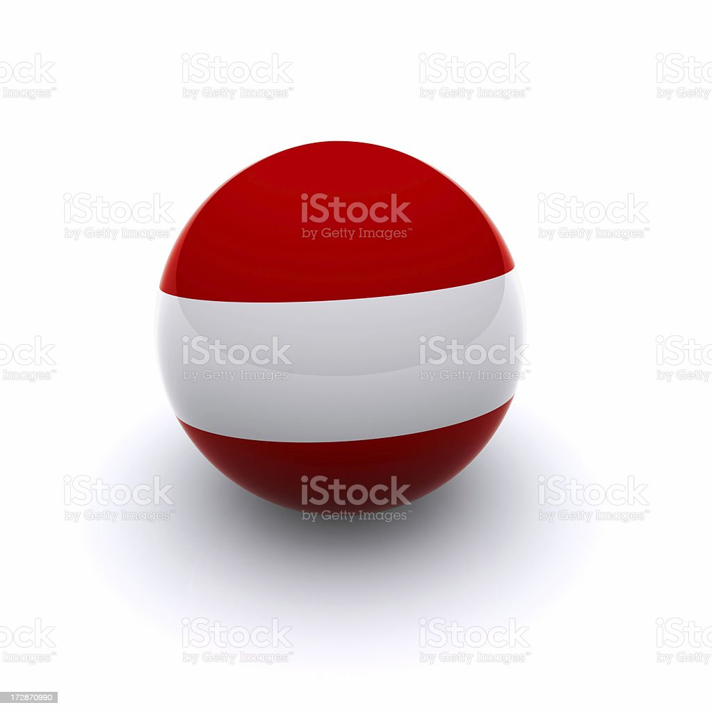 3D Ball - Austria Flag royalty-free stock photo