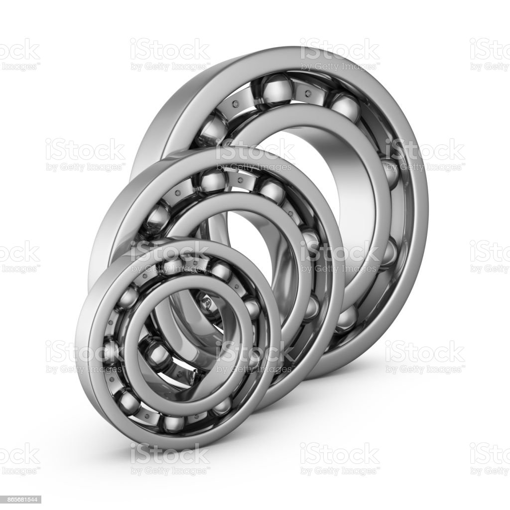 Ball bearings in a cut stock photo