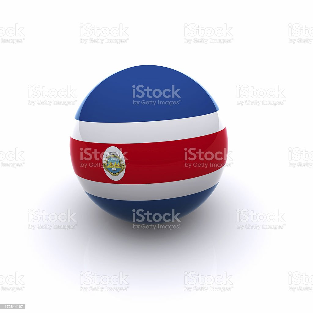 3D Ball - Costa Rica Flag stock photo