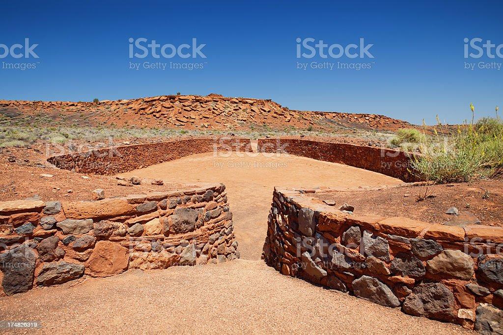 Ball Court - Wupatki National Monument royalty-free stock photo