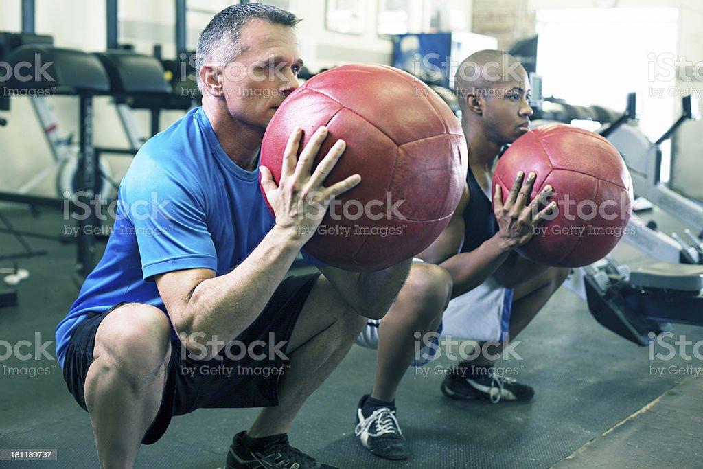 Ball exercises stock photo