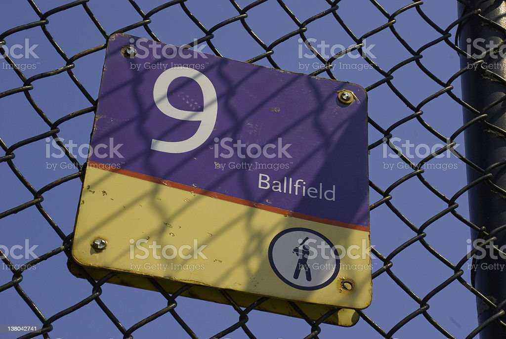 Ball field number 9 royalty-free stock photo