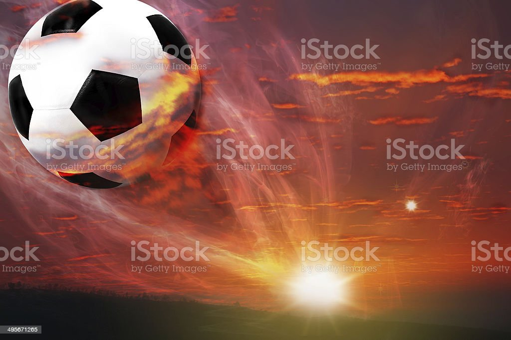 ball fly from galaxy stock photo