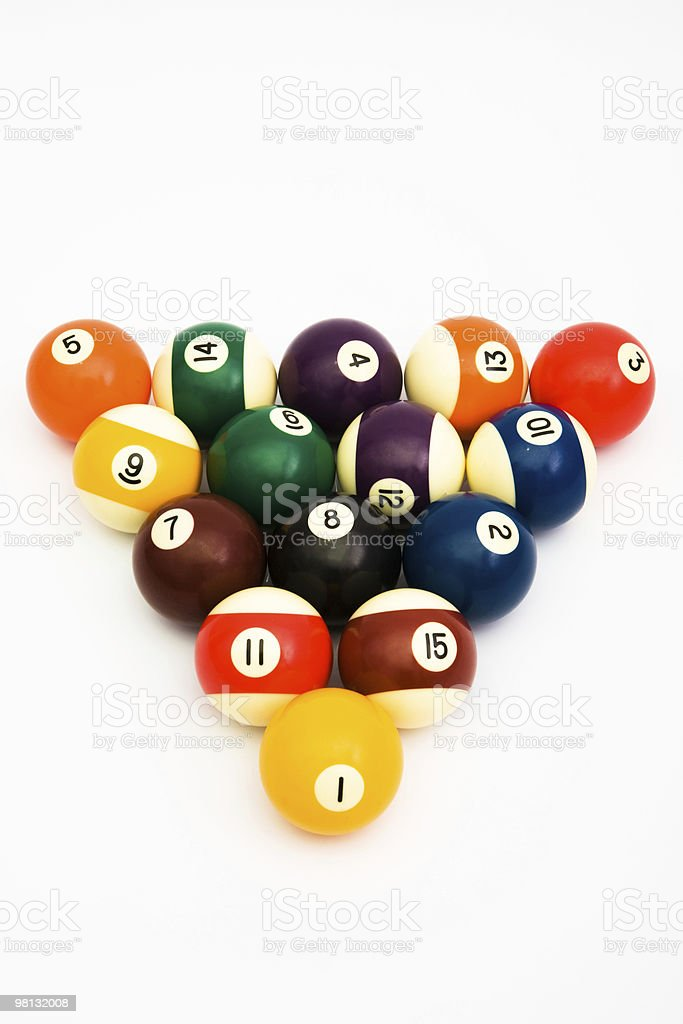 ball for game in billiards royalty-free stock photo
