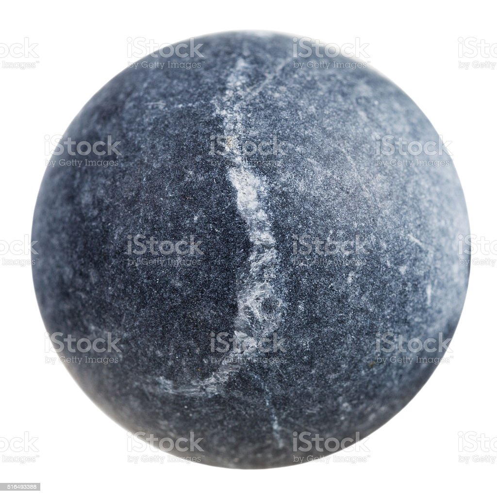 ball from gray shungite mineral gemstone stock photo