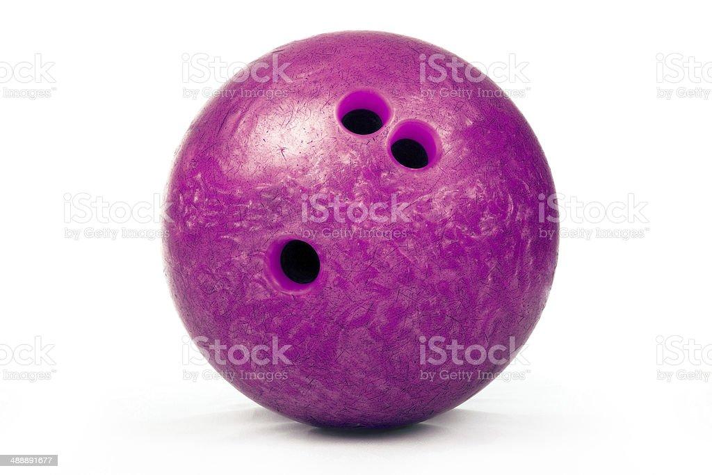 in bowling Spiel auf einem weißen Hintergrund. – Foto