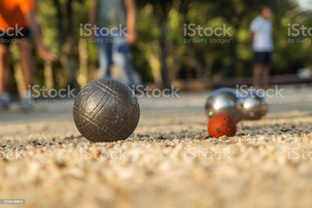 Jeu de Boules / Petanque stock photo