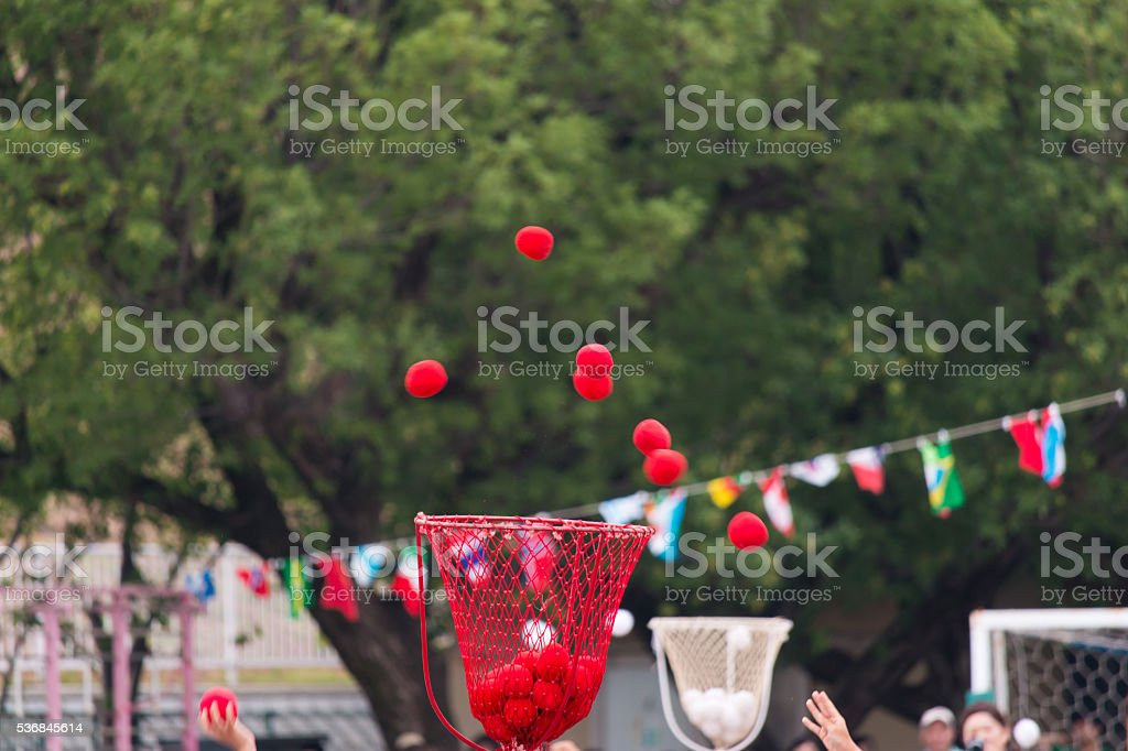 Ball holder. stock photo