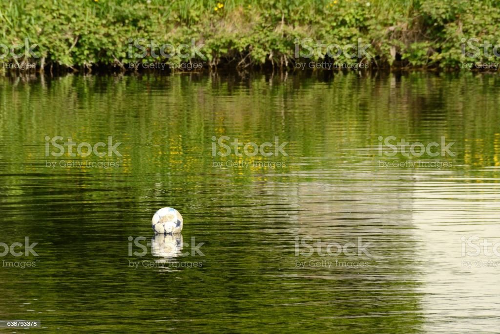 Ball in Carlow river stock photo