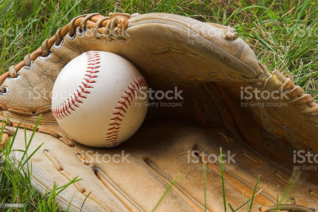 Ball in Glove royalty-free stock photo