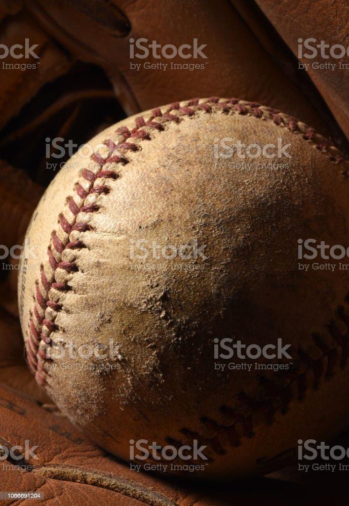 Ball in Glove Vertical stock photo