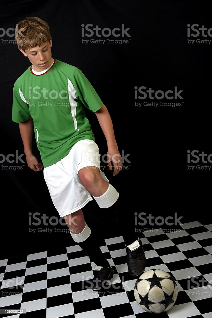 Ball in play royalty-free stock photo