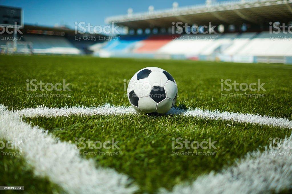 Ball in the corner stock photo
