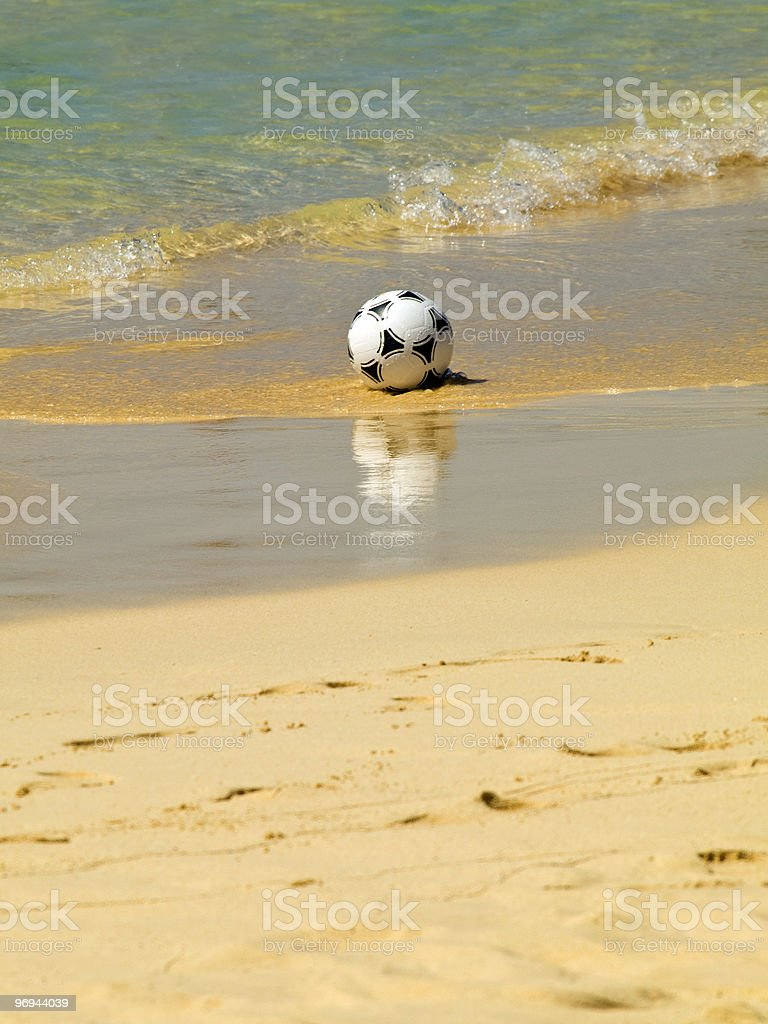 Ball in the sand royalty-free stock photo