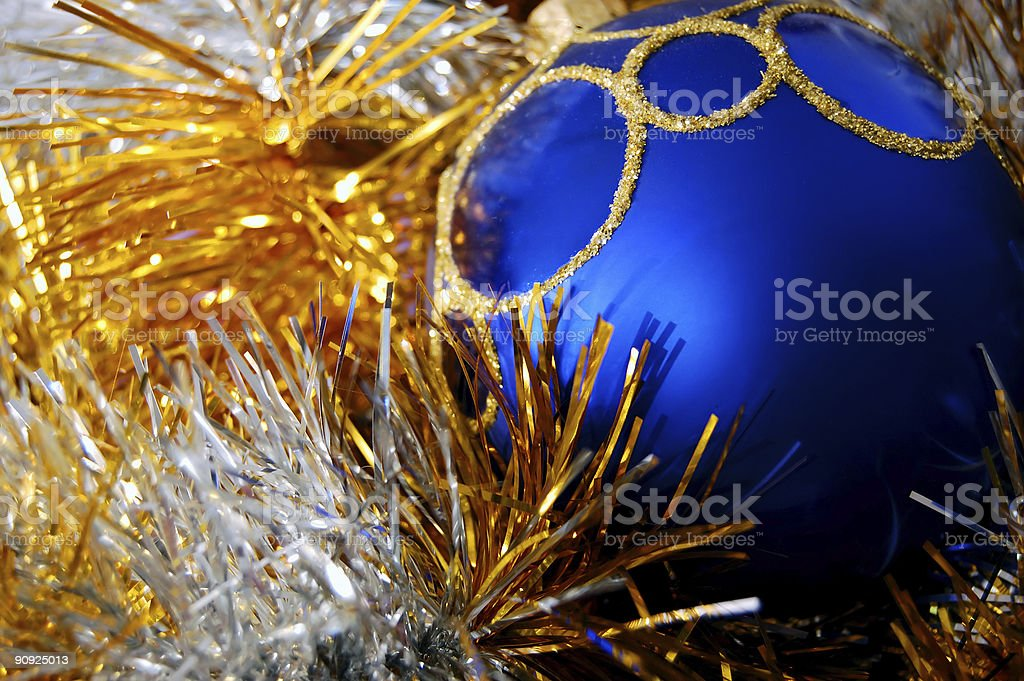 ball in tinsel royalty-free stock photo