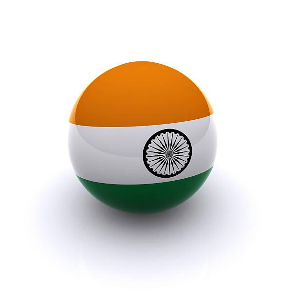3D Ball - India Flag stock photo