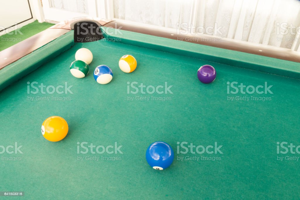Ball is snookered or trapped during snooker billards game stock photo