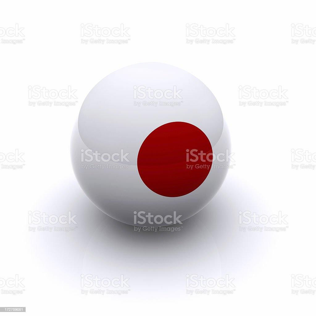 3D Ball - Japan Flag royalty-free stock photo