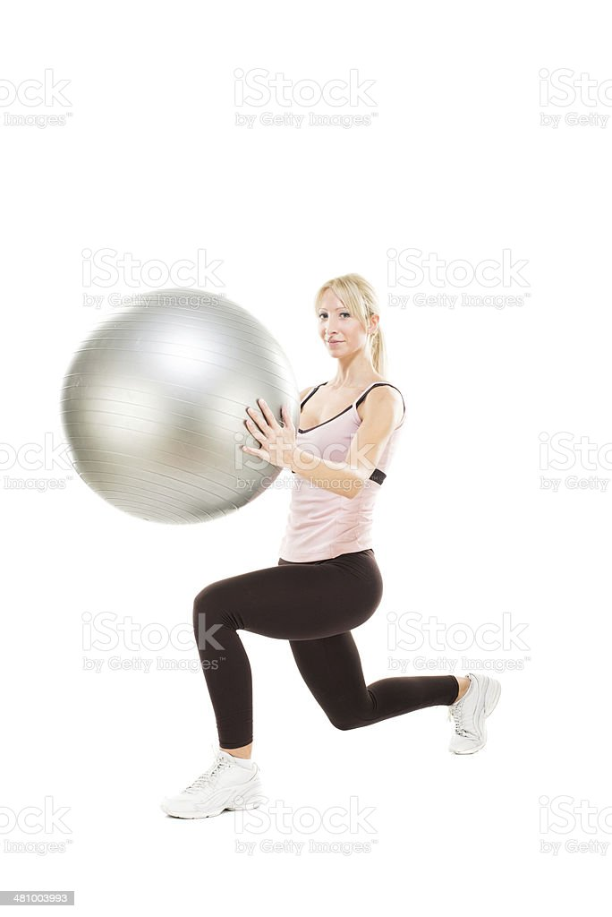 Ball lunges stock photo