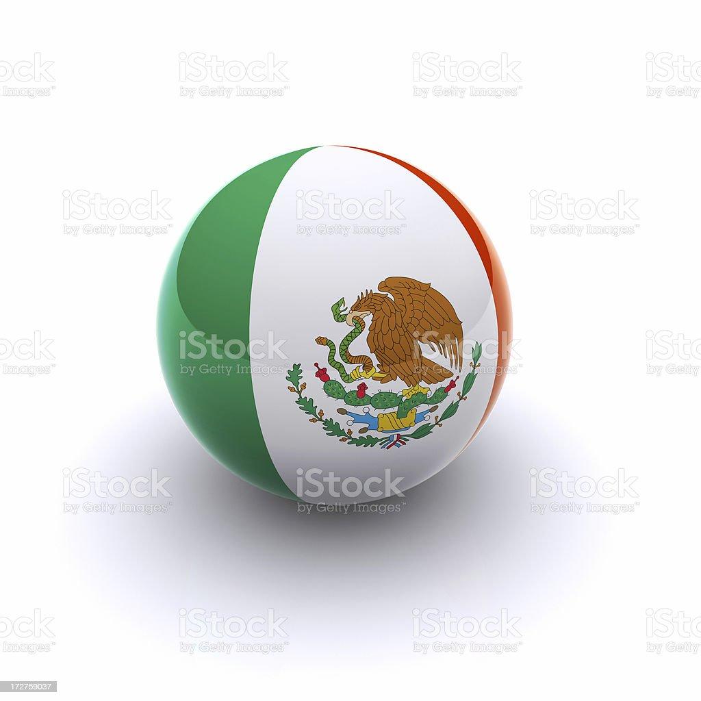 3D Ball - Mexico Flag royalty-free stock photo