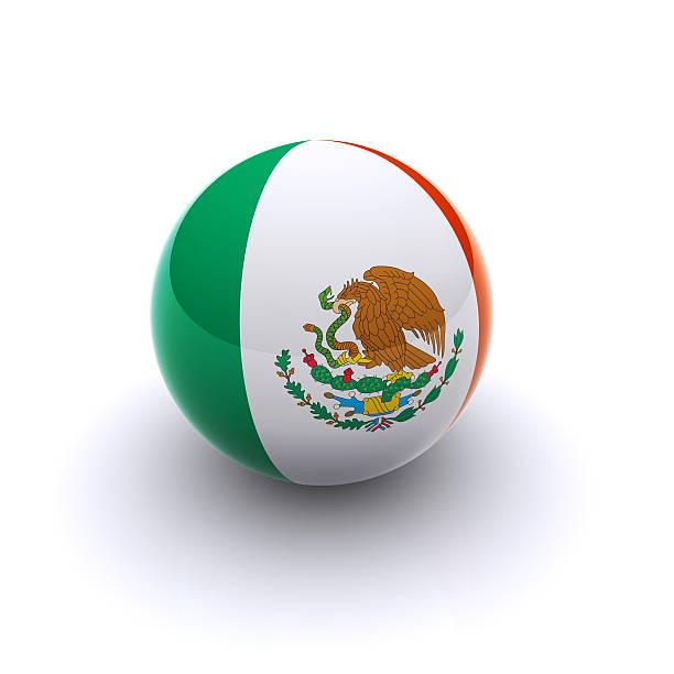 3D Ball - Mexico Flag stock photo