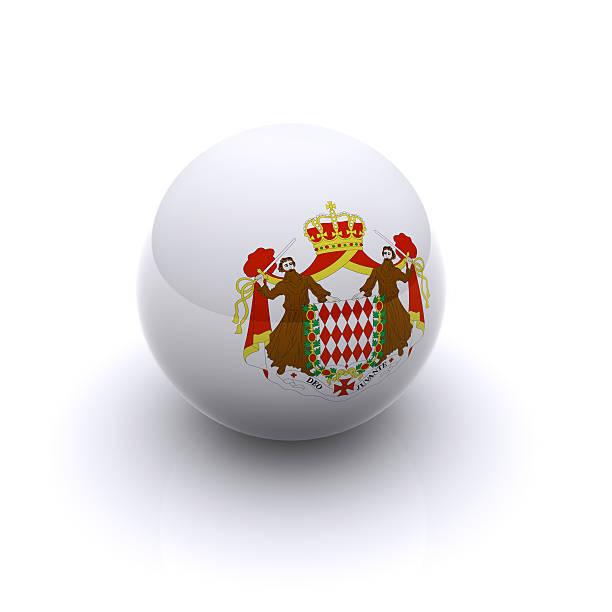 3D Ball - Monaco Flag stock photo