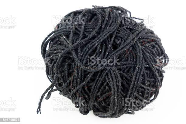 Ball of black yarn and needles isolated on white background picture id846745576?b=1&k=6&m=846745576&s=612x612&h=ed of5xjz88k4b5picoisowo xukug9s9jyzh0sbmdi=
