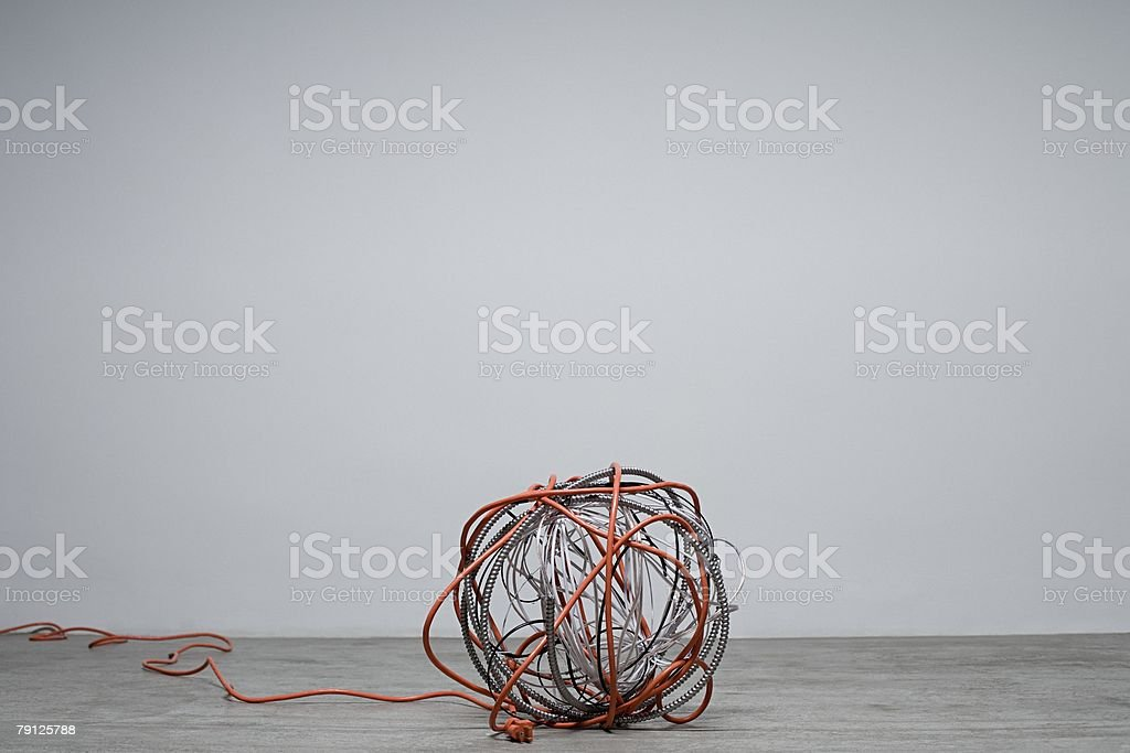 A ball of cables 免版稅 stock photo