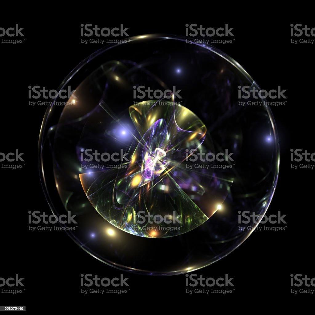 Ball of energy, scientific element of design stock photo