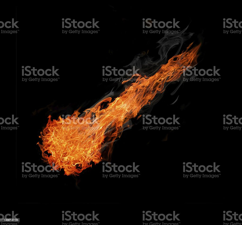 ball of fire isolated on black royalty-free stock photo