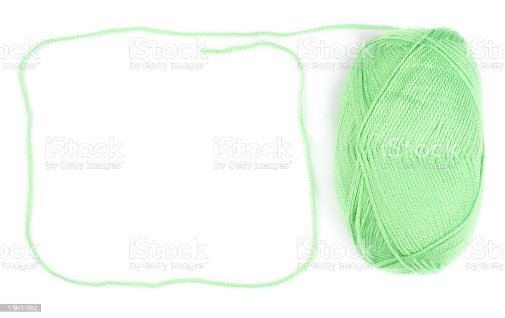 ball of green threads royalty-free stock photo