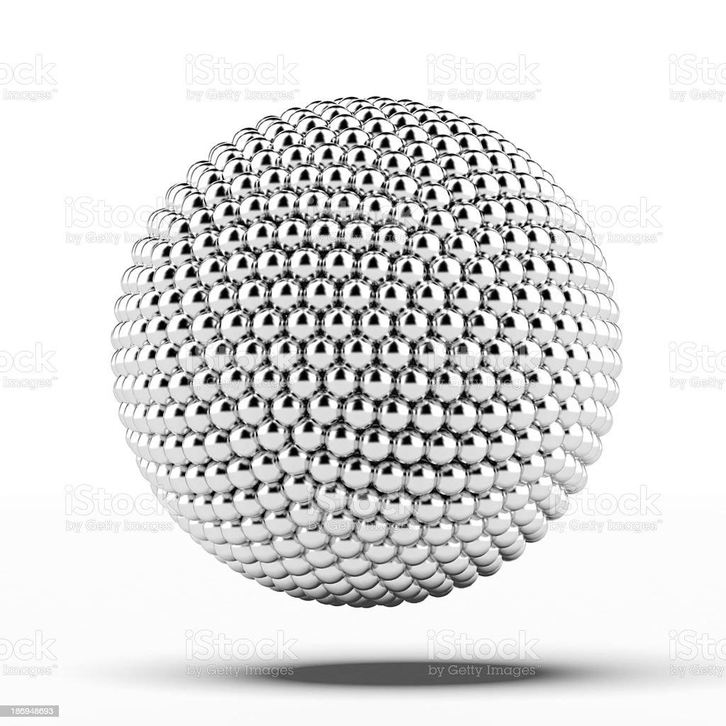 ball of metal spheres stock photo