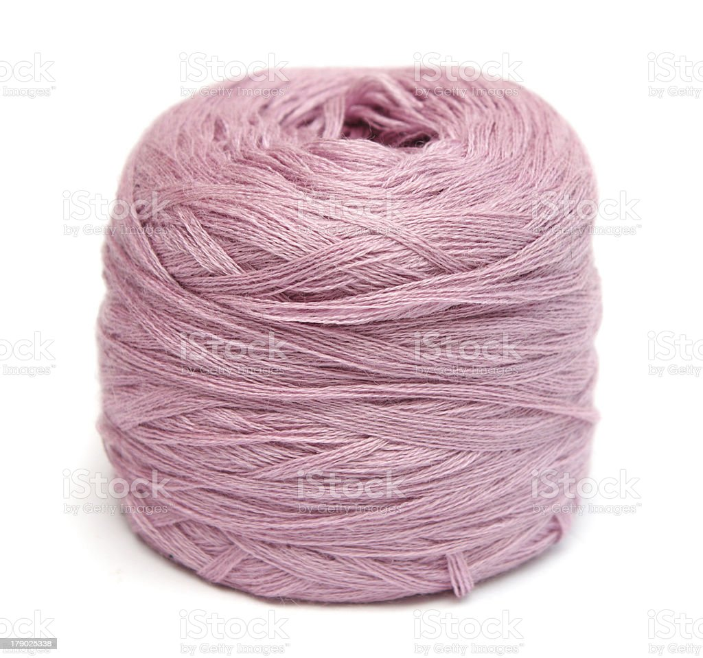 Ball of pink yarn royalty-free stock photo
