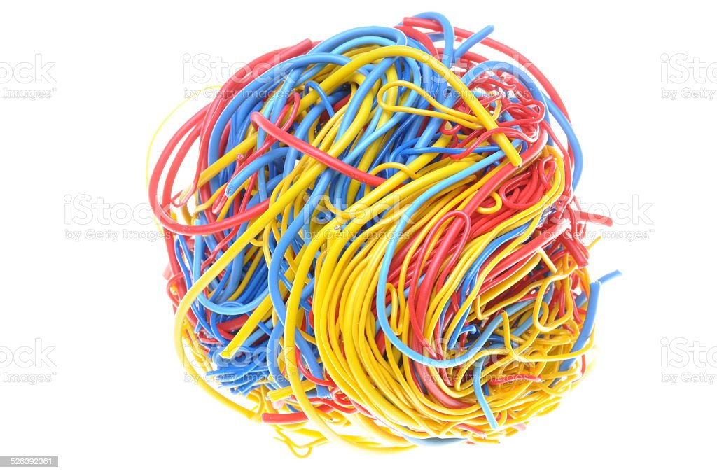 Ball of tangled cables - Royalty-free Abstract Stock Photo