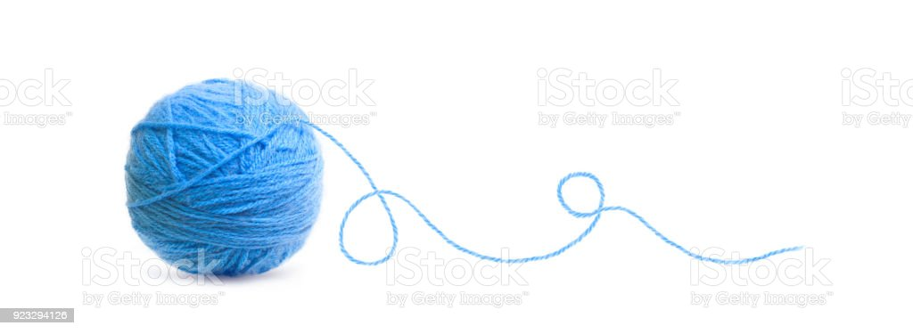 Ball of Threads wool stock photo