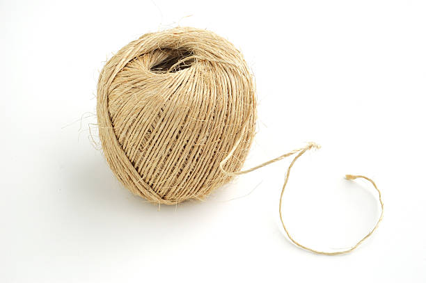 ball of twine - horizontal - sisal stock pictures, royalty-free photos & images