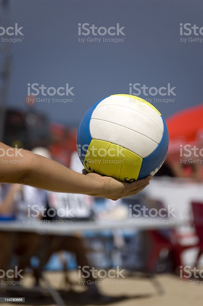 Ball of volleyball in the beach royalty-free stock photo