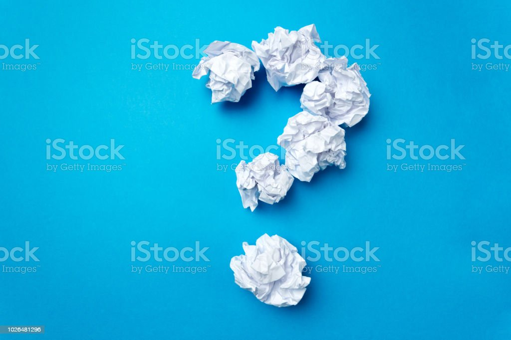 ball of white paper stock photo