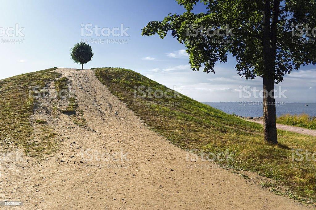 Piłka na hill zbiór zdjęć royalty-free