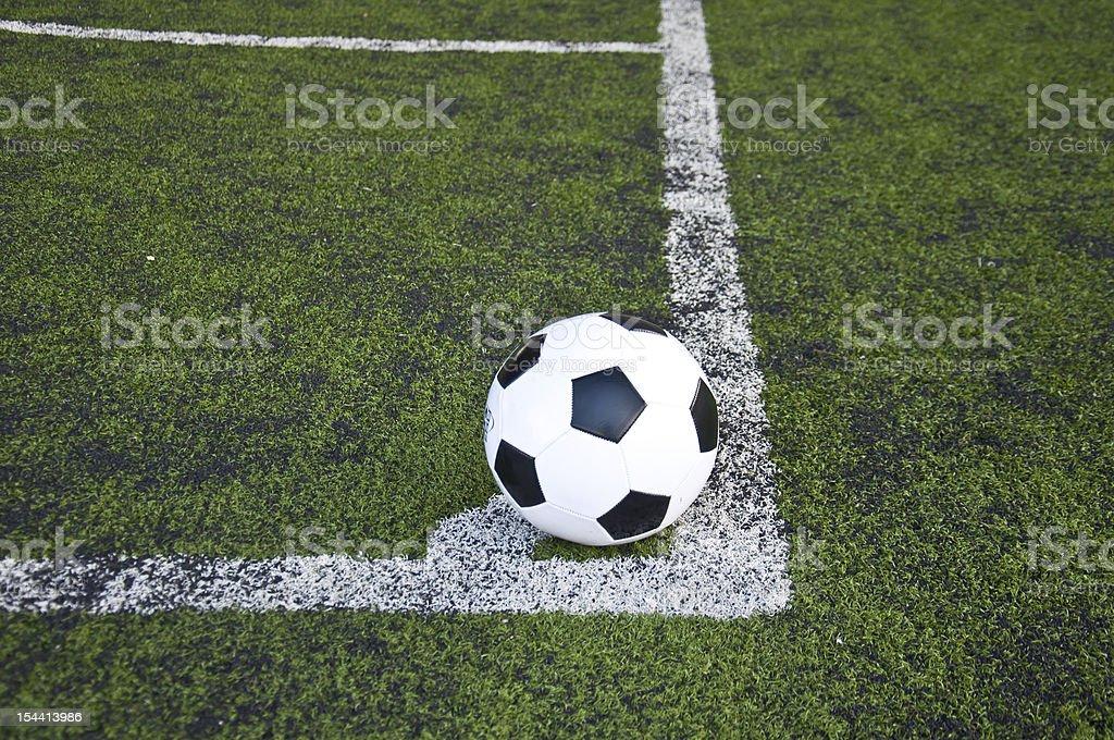 ball on corner line royalty-free stock photo