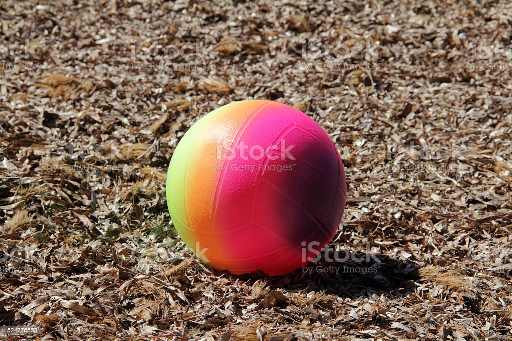 ball on dried water plants stock photo