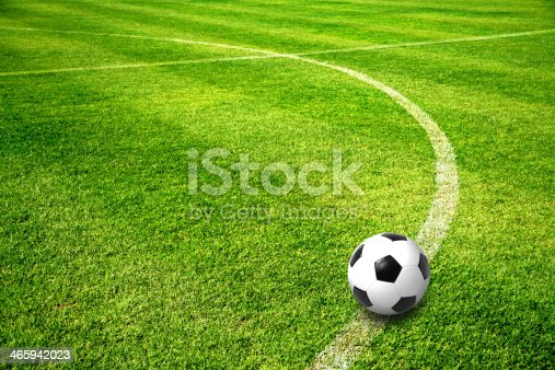 istock ball on football field 465942023