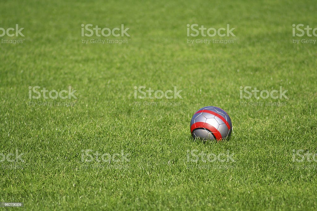 Ball On Soccer Field royalty-free stock photo