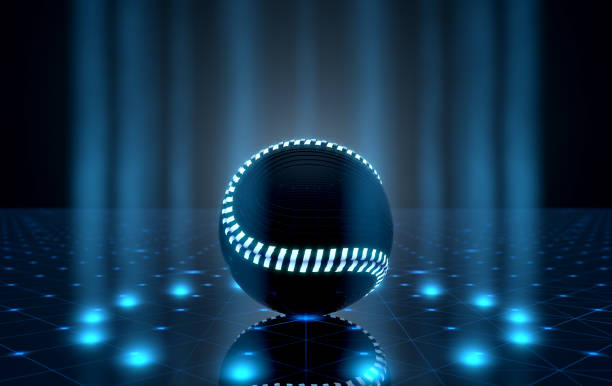Ball On Spotlit Stage stock photo